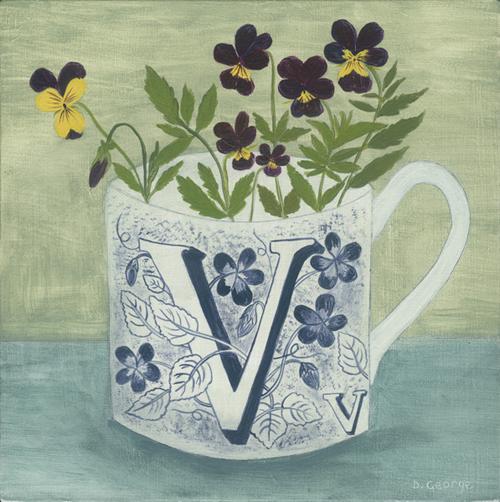 V Is For Violet Debbie George, Artist....